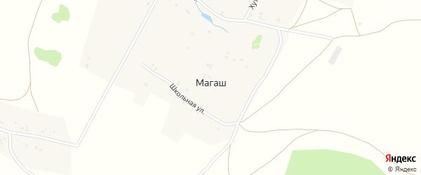 Зеленый переулок на карте деревни Магаша с номерами домов
