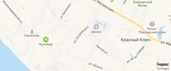 Лесная улица на карте села Красного Ключа с номерами домов