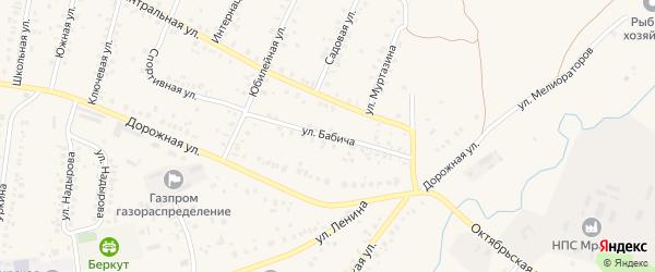 Улица Бабича на карте села Мраково с номерами домов