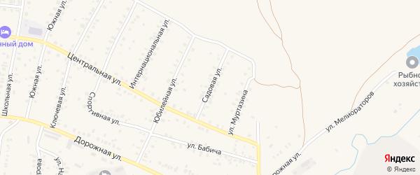 Садовая улица на карте села Мраково с номерами домов