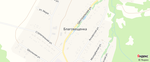 Школьная улица на карте села Благовещенки с номерами домов