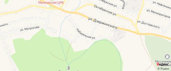 Набережная улица на карте села Мраково с номерами домов
