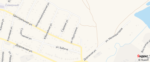 Улица Муртазина на карте села Мраково с номерами домов