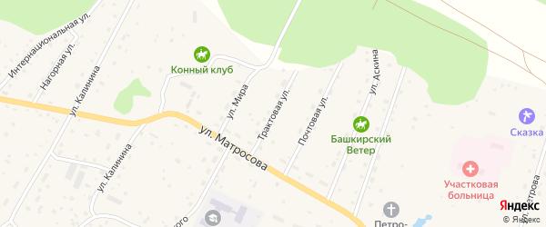 Трактовая улица на карте села Красного Ключа с номерами домов