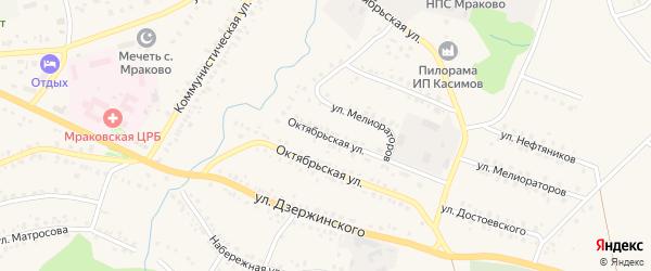Октябрьская улица на карте села Мраково с номерами домов