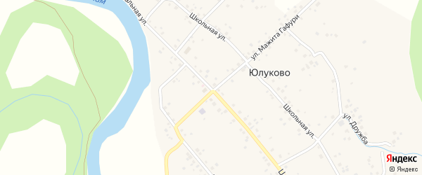 Центральная улица на карте села Юлуково с номерами домов