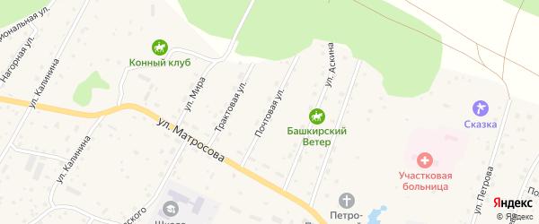 Почтовая улица на карте села Красного Ключа с номерами домов