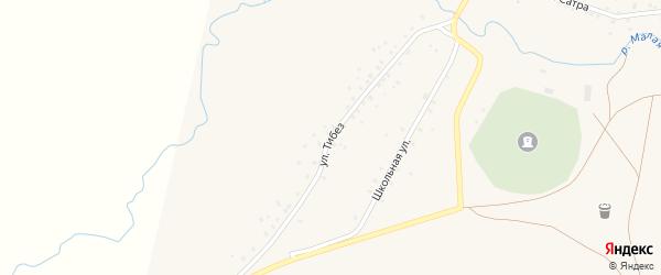 Улица Тибез на карте деревни Башкирской Ургинки с номерами домов