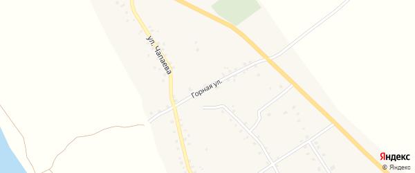 Горная улица на карте села Красной Горки с номерами домов