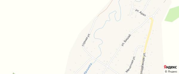 Горная улица на карте деревни Башкирской Ургинки с номерами домов