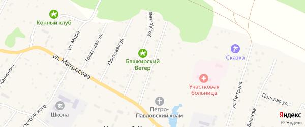 Молодежная улица на карте села Красного Ключа с номерами домов