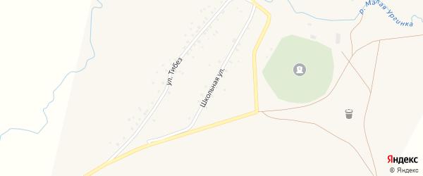 Школьная улица на карте деревни Башкирской Ургинки с номерами домов