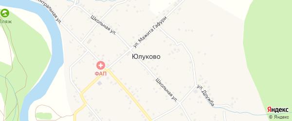 Улица Дружба на карте села Юлуково с номерами домов