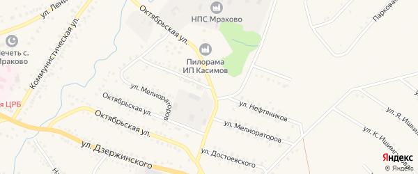 Улица Мелиораторов на карте села Мраково с номерами домов