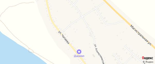 Улица Чапаева на карте села Красной Горки с номерами домов