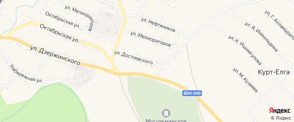 Улица Достоевского на карте села Мраково с номерами домов