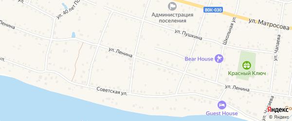 Улица Ленина на карте села Красного Ключа с номерами домов