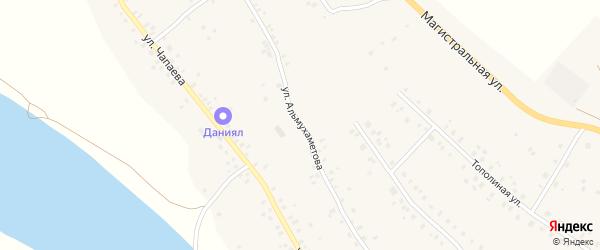 Улица Альмухаметова на карте села Красной Горки с номерами домов