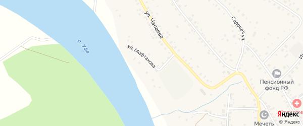 Улица Сагида Мифтахова на карте села Красной Горки с номерами домов