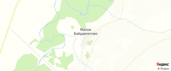 Карта деревни Малое Байдавлетово в Башкортостане с улицами и номерами домов