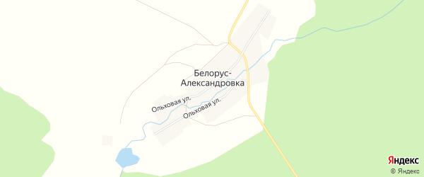 Карта деревни Белоруса-Александровки в Башкортостане с улицами и номерами домов