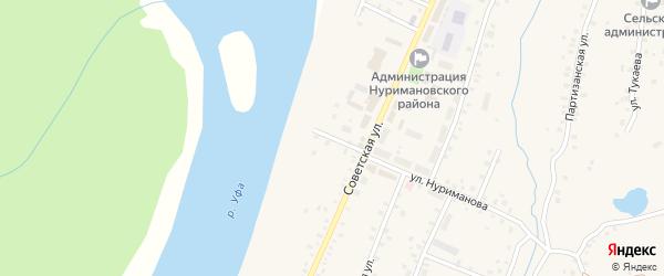 Уфимская улица на карте села Красной Горки с номерами домов