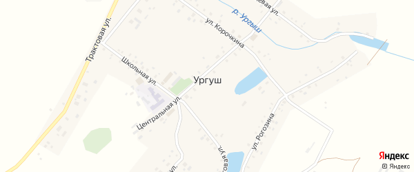 Молодежная улица на карте села Ургуша с номерами домов