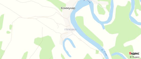 Карта деревни Коммунара в Башкортостане с улицами и номерами домов