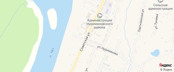 Советская улица на карте села Красной Горки с номерами домов