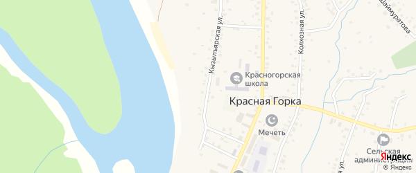 Кызылъярская улица на карте села Красной Горки с номерами домов