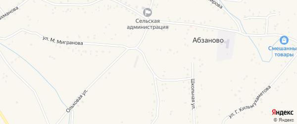 Южная улица на карте села Абзаново с номерами домов
