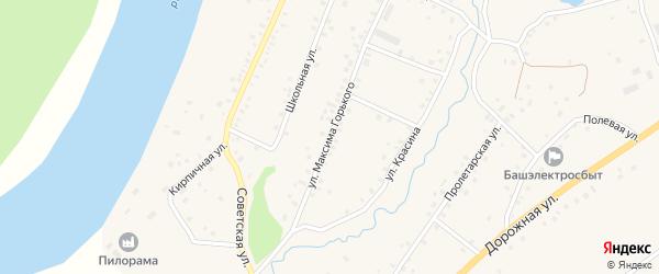 Улица Максима Горького на карте села Красной Горки с номерами домов