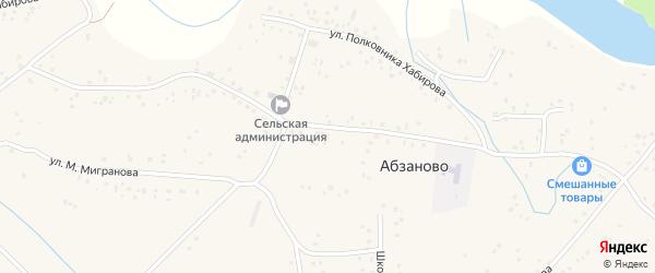 Улица А.Абдрахманова на карте села Абзаново с номерами домов