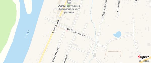 Улица Нуриманова на карте села Красной Горки с номерами домов
