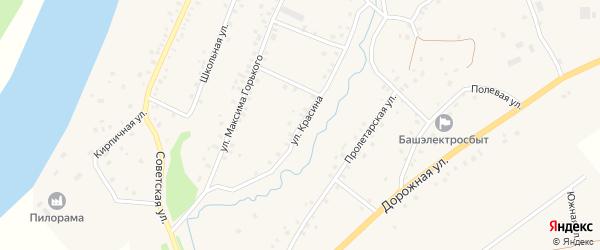 Улица Красина на карте села Красной Горки с номерами домов