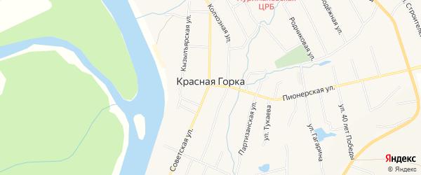 Карта села Красной Горки в Башкортостане с улицами и номерами домов