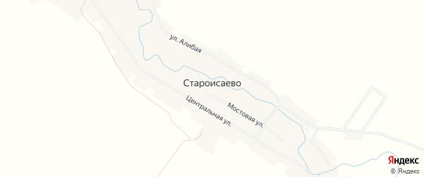 Карта деревни Староисаево в Башкортостане с улицами и номерами домов