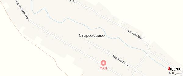 Алибая улица на карте деревни Староисаево с номерами домов