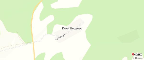 Карта деревни Ключ Бедеево в Башкортостане с улицами и номерами домов