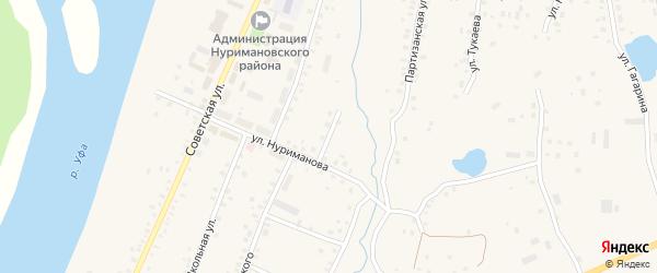 Улица Блюхера на карте села Красной Горки с номерами домов