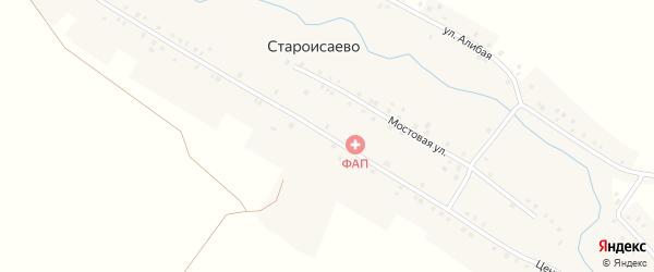 Центральная улица на карте деревни Староисаево с номерами домов