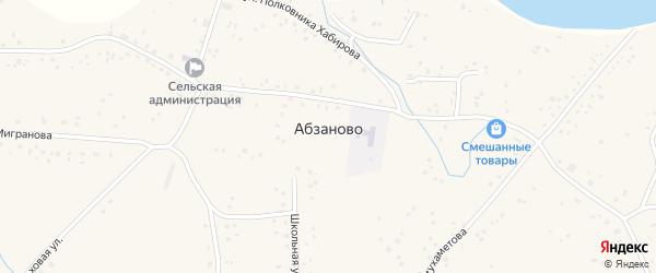 Улица М.Мигранова на карте села Абзаново с номерами домов