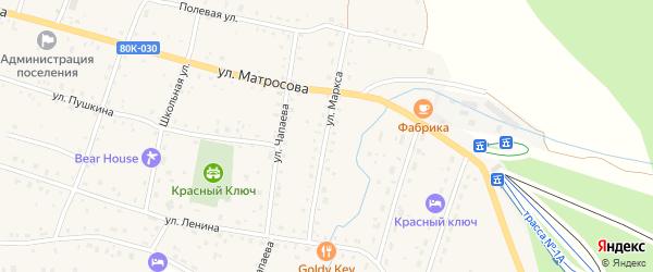 Улица Маркса на карте села Красного Ключа с номерами домов