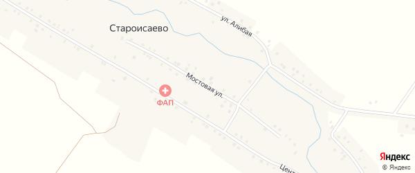 Мостовая улица на карте деревни Староисаево с номерами домов