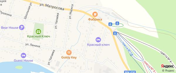 Октябрьская улица на карте села Красного Ключа с номерами домов