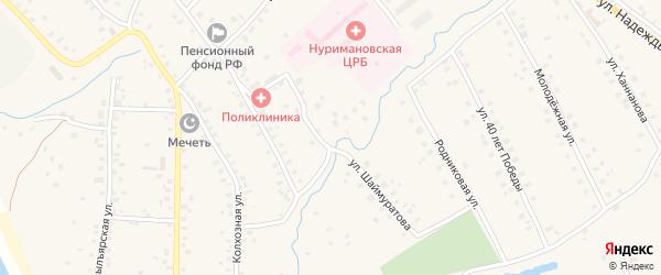 Улица Шайхутдинова на карте села Красной Горки с номерами домов