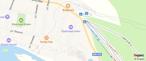 Улица Шуняева на карте села Красного Ключа с номерами домов