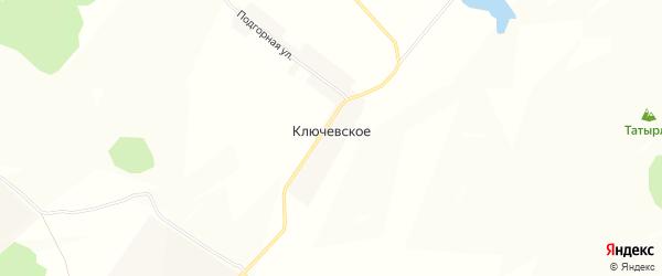 Карта деревни Ключевского в Башкортостане с улицами и номерами домов