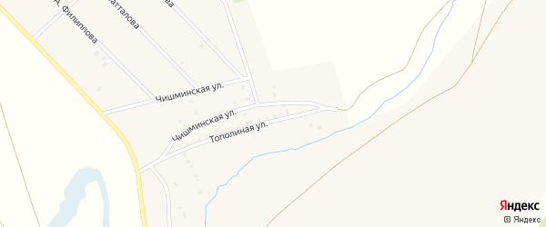 Улица А.Султанова на карте хутора Курта-Елги с номерами домов