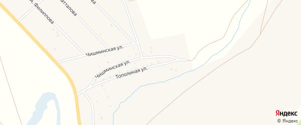 Тополиная улица на карте хутора Курта-Елги с номерами домов